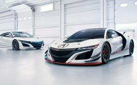 Обои суперкар, Honda, хонда, GT3, акура, Acura, NSX