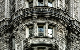 Картинка дом, Нью-Йорк, окно, балкон, США, архитектура, Манхэттен