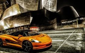 Обои Concept, оранжевый, город, концепт, суперкар, Vision, SZR