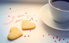 Обои cup, сердце, кофе, любовь, romantic, coffee, sweet