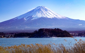 Картинка вулкан, Fuji, пейзаж, Япония, гора