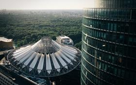 Картинка деревья, здания, Германия, Берлин