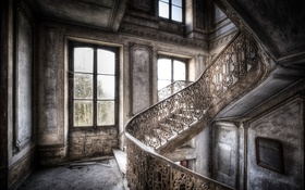 Обои стены, лестница, фон