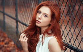 Картинка Girl, Red, Beauty, Hair, Portait, Lods Franck, Aurore
