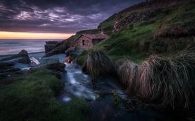 Обои море, берег, Mill House
