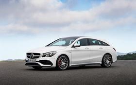 Обои белый, Mercedes-Benz, мерседес, универсал, CLA-Class, X117