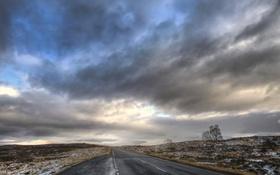 Картинка дорога, небо, Scotland, Glencoe