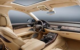Обои Audi, ауди, интерьер, руль, торпедо
