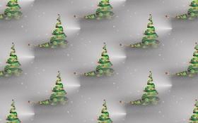 Обои фон, праздник, текстура, арт, Новый год, ёлочка, бантик