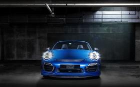Обои синий, 911, Porsche, кабриолет, порше, Turbo, Cabriolet