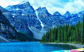 Обои Морейн, Банф, Moraine Lake, Canada, Alberta, Banff National Park, Канада