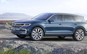 Картинка Concept, Volkswagen, концепт, фольксваген, кроссовер, GTE, T-Prime