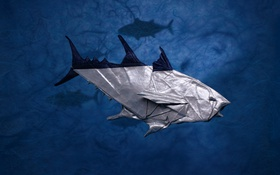 Обои бумага, рыба, оригами, тунец