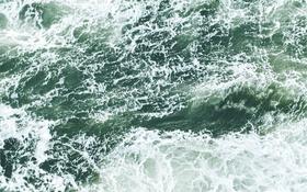 Обои море, волны, пена, океан, стихия