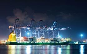 Обои корабль, порт, Таиланд, контейнеровоз, портовые краны