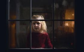 Обои настроение, окно, девочка