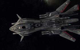 Обои космос, полет, корабль, Star Citizen, Retaliator