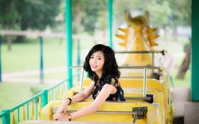 Обои девушка, улыбка, азиатка