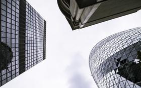 Обои небо, окна, здания