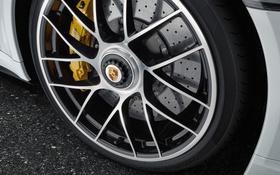 Обои колесо, 911, Porsche, turbo, порше, тормозной диск