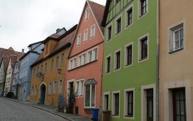 Обои улица, краски, дома, Германия, Бавария, Ротенбург-на-Таубере