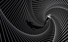 Обои абстракция, фантастика, арт, черно-белое, постер, Shailene Woodley, Дивергент