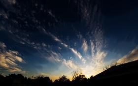 Обои небо, облака, синее