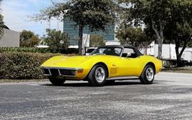 Обои Corvette, Chevrolet, 1971, шевроле, Stingray, корветт