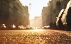 Картинка город, фон, улица