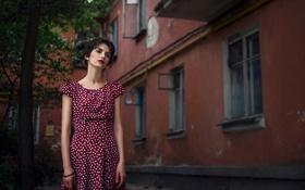 Картинка девушка, дом, улица