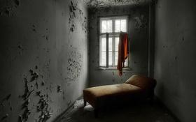 Обои комната, диван, окно