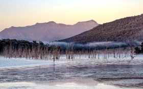 Картинка mountain, Morning, Lake Moogerah