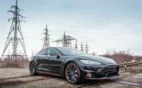 Обои Tesla, Model S, тесла, электрокар, Larte Design