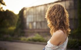 Картинка девушка, волосы, плечо