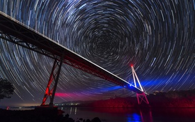 Картинка Stars, Australia, Tasmania, Batman Bridge, Tamar River