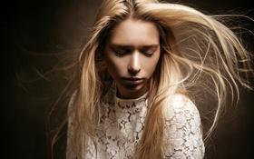 Картинка девушка, портрет, блондинка