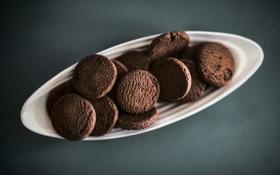 Обои печенье, десерт, шоколадное