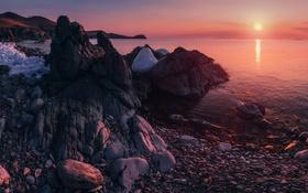 Обои Панорама, Россия, Побережье, Моря, Японского