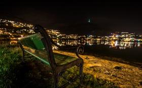 Обои night, Norway, Bergen