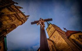 Обои крест, Германия, собор, распятие, Эрфурт