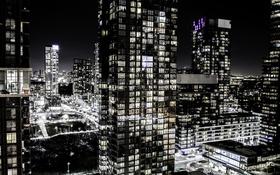 Обои ночь, город, огни, Канада, Торонто, Toronto