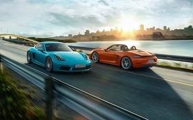 Картинка Porsche, родстер, порше, Boxster, бокстер, 718