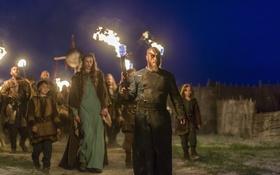 Обои факелы, Vikings, Викинги, Travis Fimmel, Ragnar Lothbrok