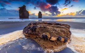 Картинка море, пляж, природа, камни, скалы
