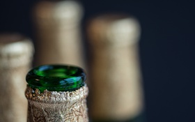 Картинка макро, фон, бутылки