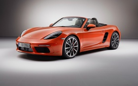 Обои Porsche, родстер, кабриолет, порше, Boxster, бокстер, 718
