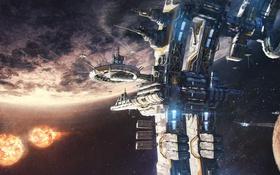 Картинка станция, планета, поверхность, космос