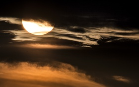 Картинка небо, ночь, облока