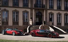 Обои Bugatti, пара, Veyron, red, Grand Sport, Vitesse, La Finale