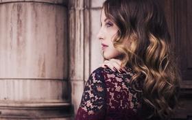 Картинка девушка, профиль, локоны, Rosie Fortescue